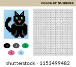 color by numbers  education...   Shutterstock .eps vector #1153499482