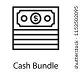 paper money in a bundle form... | Shutterstock .eps vector #1153502095