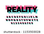 modern bold 3d font design ... | Shutterstock .eps vector #1153503028