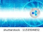 ripple crypto currency  xrp ... | Shutterstock . vector #1153504852