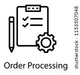 a clipboard having checklist... | Shutterstock .eps vector #1153507048