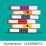 files  ring binders  colorful... | Shutterstock .eps vector #1153508272