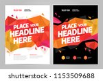 vector layout design template... | Shutterstock .eps vector #1153509688