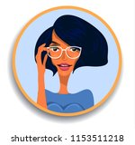 girl with glasses  woman... | Shutterstock .eps vector #1153511218