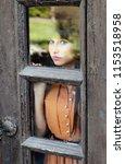 portrait of a girl standing... | Shutterstock . vector #1153518958