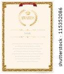 illustration of a certificate.... | Shutterstock .eps vector #115352086