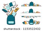 colorful cartoon school... | Shutterstock .eps vector #1153522432