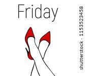 friday card illustration . red... | Shutterstock .eps vector #1153523458