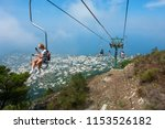 capri  italy   july 29  2018 ... | Shutterstock . vector #1153526182