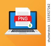 download png button on laptop... | Shutterstock .eps vector #1153527262