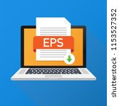 download eps button on laptop...   Shutterstock .eps vector #1153527352