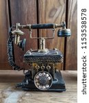 classic old phone numeric...   Shutterstock . vector #1153538578