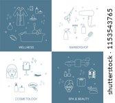 vector icons set in flat ... | Shutterstock .eps vector #1153543765