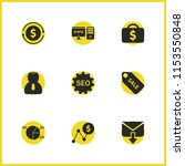 job business icons set with...