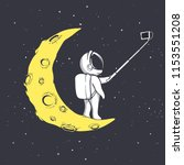 astronaut photographs himself...   Shutterstock .eps vector #1153551208