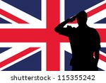 the united kingdom flag and the ...   Shutterstock .eps vector #115355242