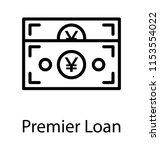 paper money cash of an... | Shutterstock .eps vector #1153554022