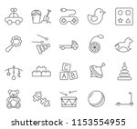 set of toy related vector line... | Shutterstock .eps vector #1153554955