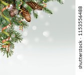 christmas greeting card with... | Shutterstock . vector #1153556488