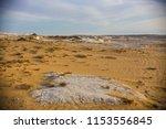 desert landscape in egypt.... | Shutterstock . vector #1153556845