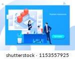 business hr concept. human...   Shutterstock .eps vector #1153557925