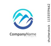 three mountain logo | Shutterstock .eps vector #1153559662