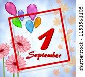 greeting card from 1 september   Shutterstock .eps vector #1153561105