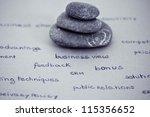 zen stones stacked surrounded... | Shutterstock . vector #115356652