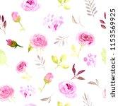 seamless pattern pink... | Shutterstock . vector #1153569925