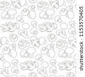 pattern of mushrooms   Shutterstock .eps vector #1153570405