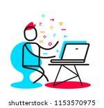 vector business illustration of ... | Shutterstock .eps vector #1153570975