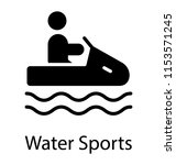 human avatar boating on a... | Shutterstock .eps vector #1153571245