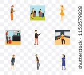 set of 9 simple transparency... | Shutterstock .eps vector #1153579828