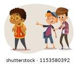 sad african american boy...   Shutterstock .eps vector #1153580392