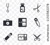 set of 9 simple transparency...   Shutterstock .eps vector #1153582378