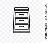 open drawer vector icon... | Shutterstock .eps vector #1153584628