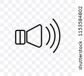 high volume loudspeaker vector... | Shutterstock .eps vector #1153584802