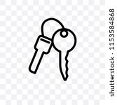 key ring with two keys vector... | Shutterstock .eps vector #1153584868