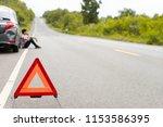 a car breakdown on the road.... | Shutterstock . vector #1153586395