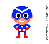 vector cartoon super hero kid... | Shutterstock .eps vector #1153587598