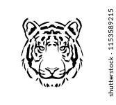 vector tiger illustration... | Shutterstock .eps vector #1153589215