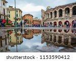 verona   italy   august 23 ... | Shutterstock . vector #1153590412