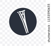 crutch vector icon isolated on...   Shutterstock .eps vector #1153590655