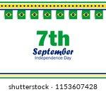 7th of september. brazil... | Shutterstock .eps vector #1153607428