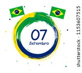 brazil independence day. 7th of ... | Shutterstock .eps vector #1153607515