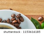 cup of coffee whit bean and...   Shutterstock . vector #1153616185