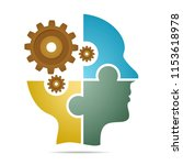 the human head composed of... | Shutterstock .eps vector #1153618978