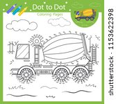drawing worksheets. dot to dots ... | Shutterstock .eps vector #1153622398