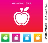 apple icon in colored square... | Shutterstock .eps vector #1153636768
