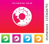 donuts icon in colored square... | Shutterstock .eps vector #1153636792
